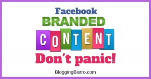 Facebook Branded Content Policy Information | BloggingBistro.com