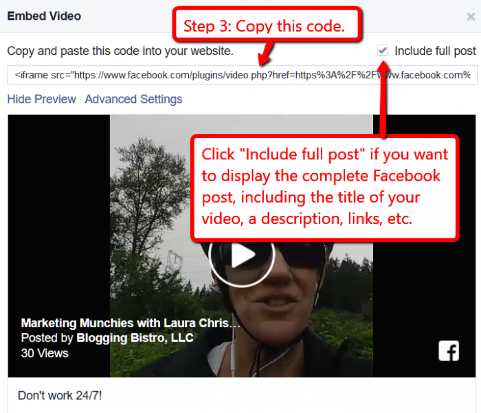 How to embed Facebook Live video on your blog or website