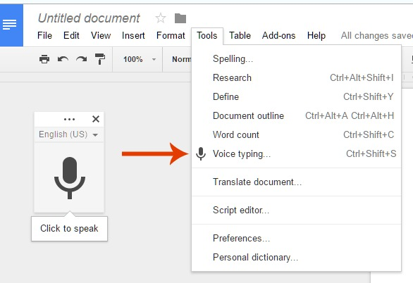 How to dictate blog posts with Google Docs | BloggingBistro.com