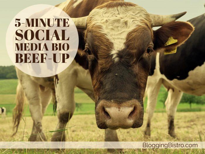 The 5-minute social media bio beef-up   BloggingBistro.com