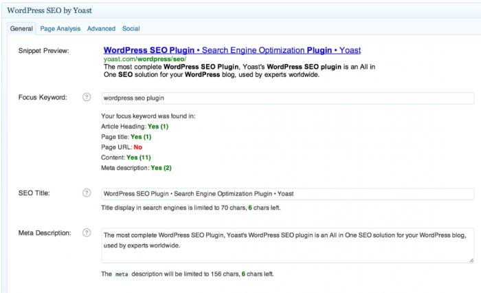 Yoast SEO Plugin for WordPress | BloggingBistro.com