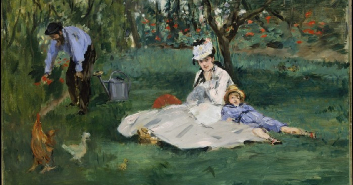 The Monet Family in Their Garden at Argenteuil, by Édouard Manet, 1874, The Metropolitan Museum of Art