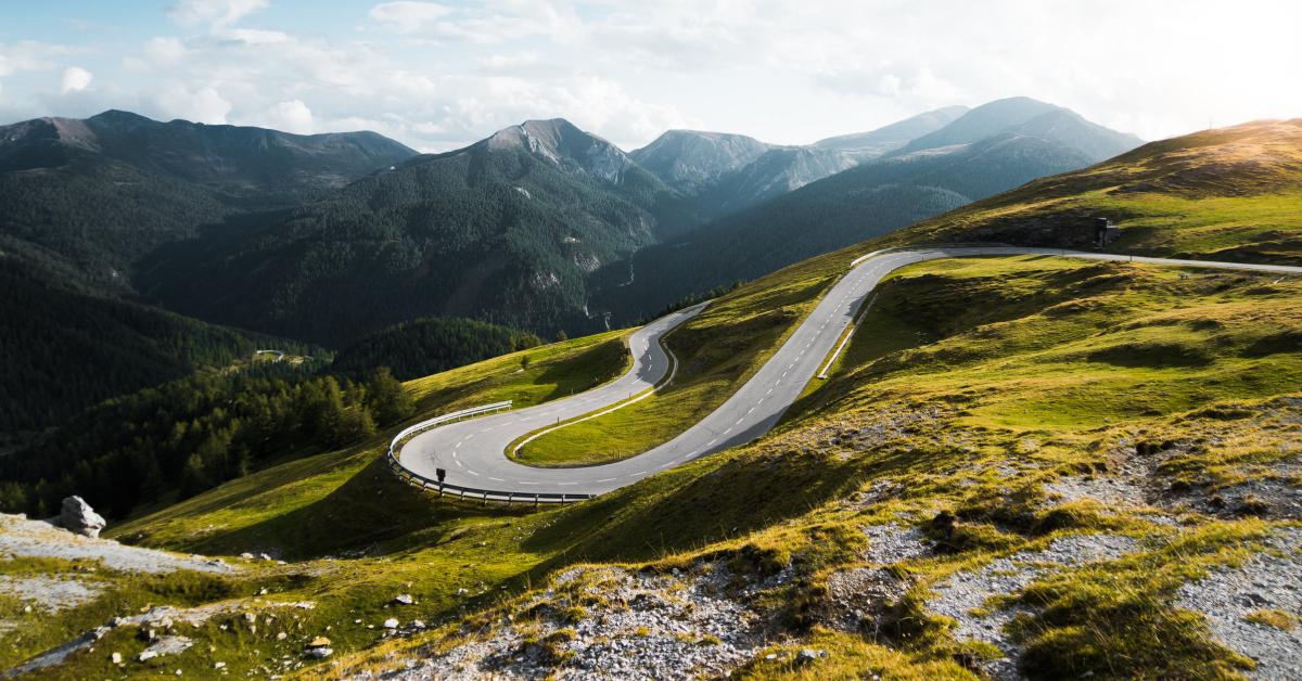 Nockalm Road in Austria, via Picjumbo. Photo by Viktor Hanacek