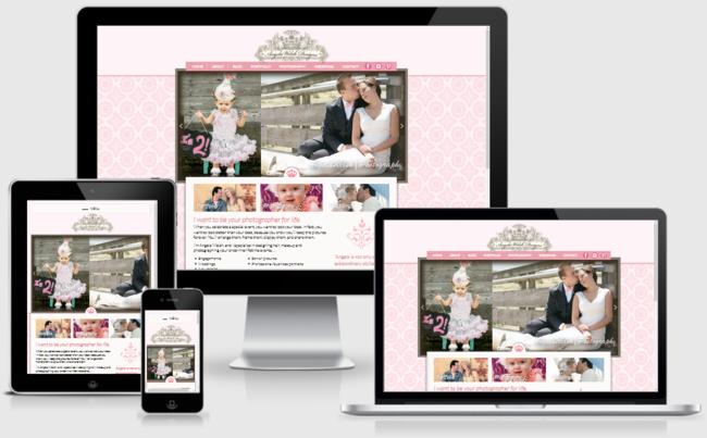 Custom Responsive Design WordPress Website for Angela Welsh, Photographer   BloggingBistro.com