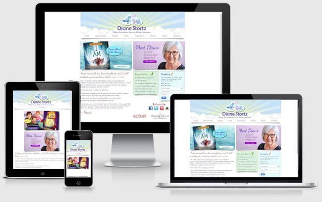 Custom Responsive Design WordPress Website for Diane Stortz, Author and Speaker   BloggingBistro.com