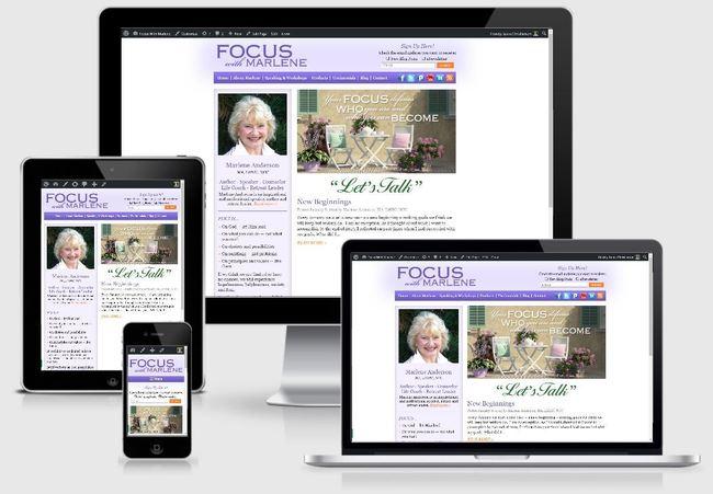 FocusWithMarlene.com   Custom WordPress Website created by the team at BloggingBistro.com