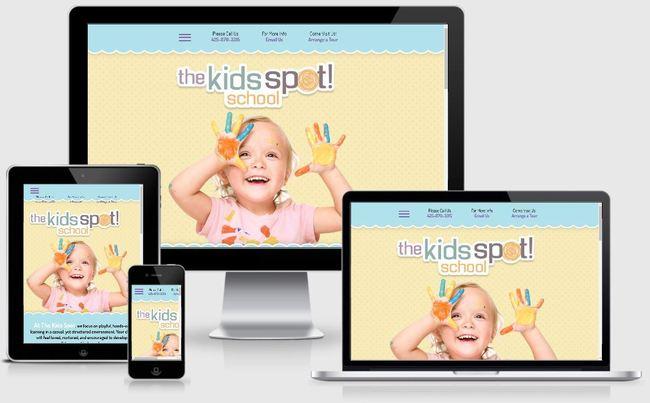 Custom Responsive Design WordPress Website for The Kids Spot School   BloggingBistro.com