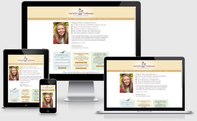 Custom Responsive Design WordPress Website for Michelle Hollomon, Licensed Mental Health Counselor   BloggingBistro.com
