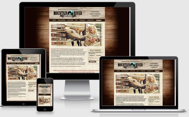 Custom Responsive Design WordPress Website for Mountain River Youth Ranch   BloggingBistro.com