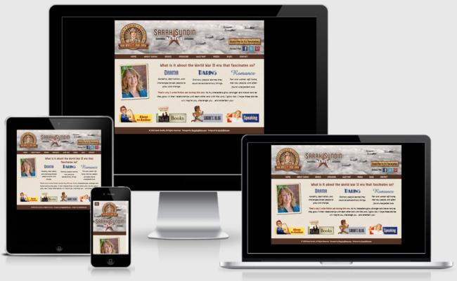 Custom Responsive Design WordPress Website for Sarah Sundin, Author   BloggingBistro.com