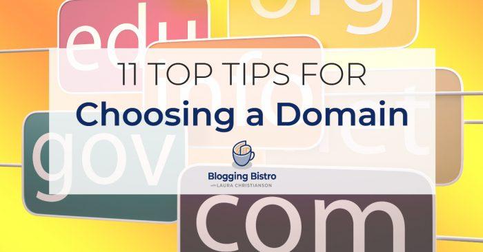 11 Top Tips for Choosing a Domain   BloggingBistro.com