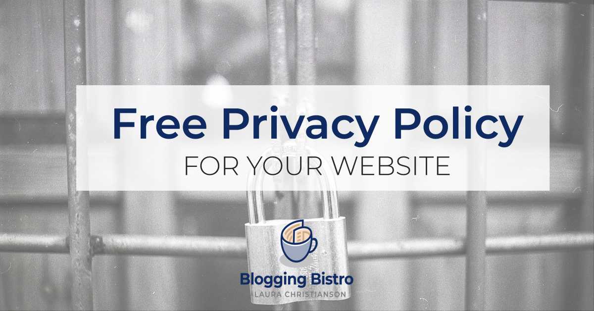 Free GDPR-Compliant Privacy Policy and Other Legal forms for your Website   BloggingBistro.com