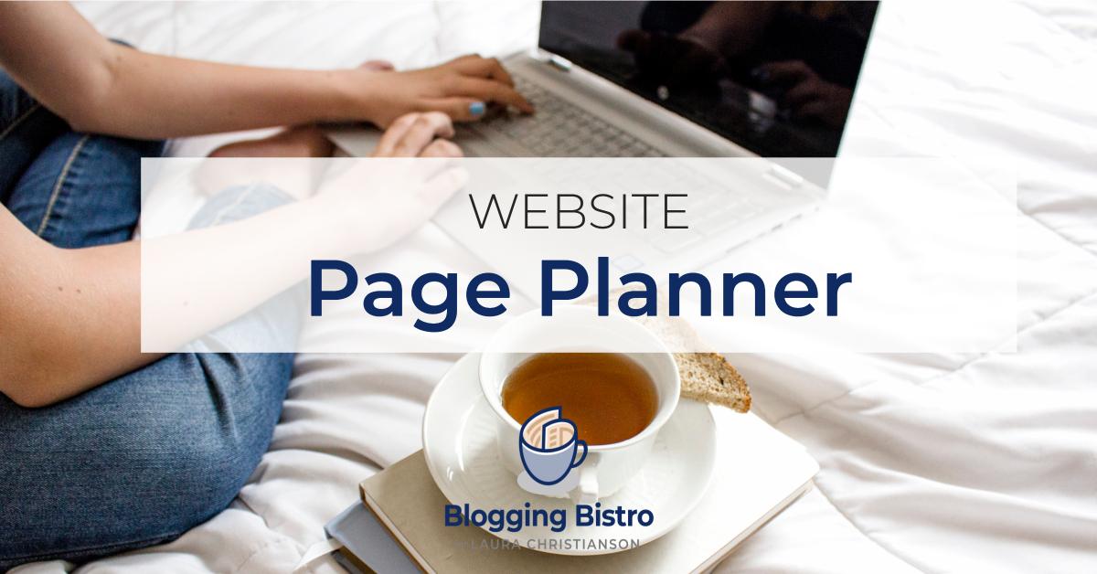 Website Page Planner | BloggingBistro.com