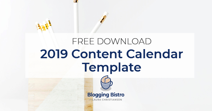 Template Calendrier 2019.2019 Content Calendar Template Free Download Blogging Bistro