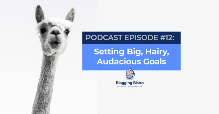 Setting Big, Hairy, Audacious Goals   Episode #12 of the Professional Writer Podcast, with Laura Christianson   BloggingBistro.com