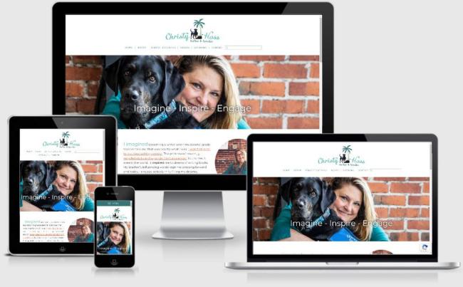 ChristyHoss.com   Custom WordPress Website created by the team at BloggingBistro.com