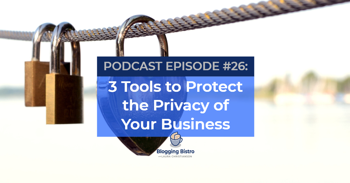 3 Tools to Protect the Privacy of Your Business   Episode #26 of The Professional Writer Podcast with Laura Christianson   BloggingBistro.com