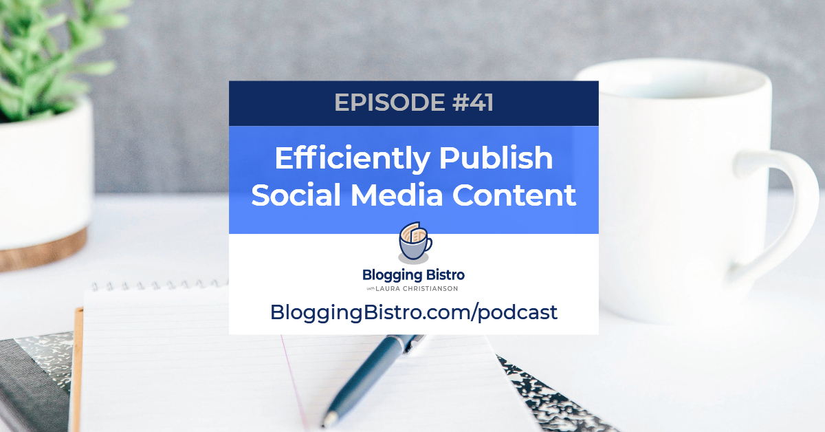 Efficiently Publish Social Media Content   Episode 41 of The Professional Writer Podcast with Laura Christianson   BloggingBistro.com