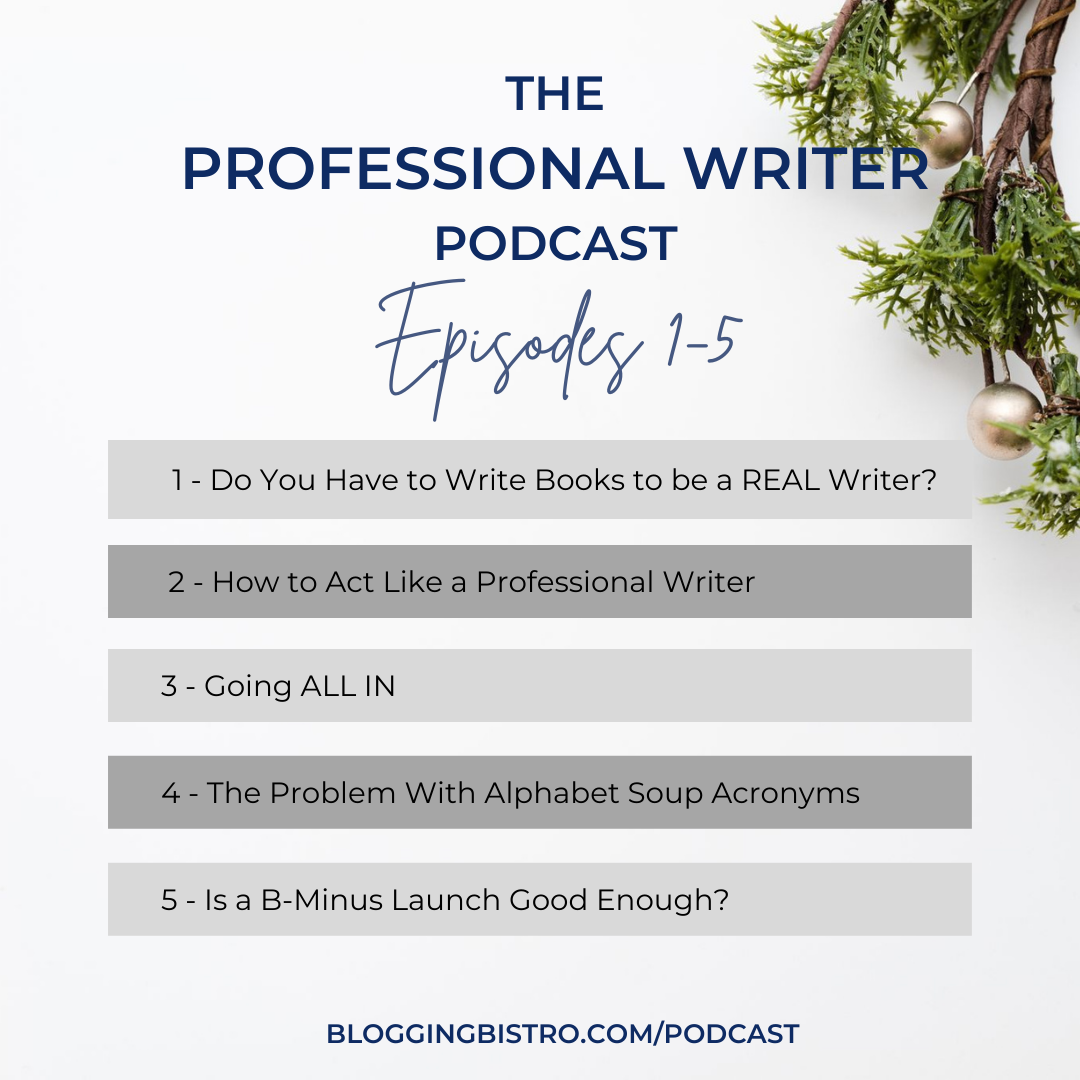 The Professional Writer Podcast with Laura Christianson   BloggingBistro.com   Episodes 1-5
