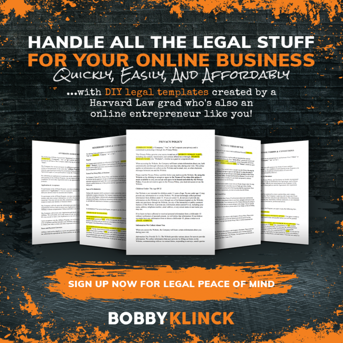 Legal Template Library from Bobby Klinck